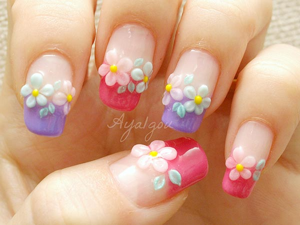 3d Nail Designs Flowers 3d Flower Nail Art Design