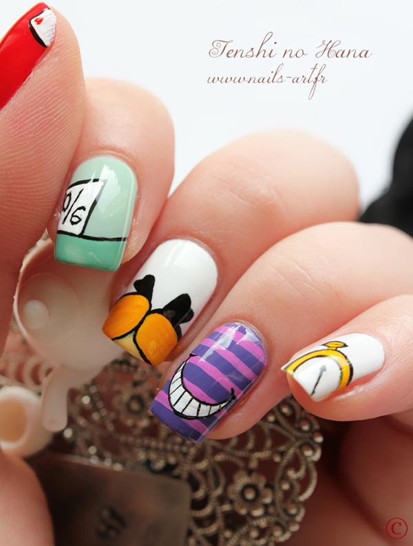 alice in wonderland inspired nails