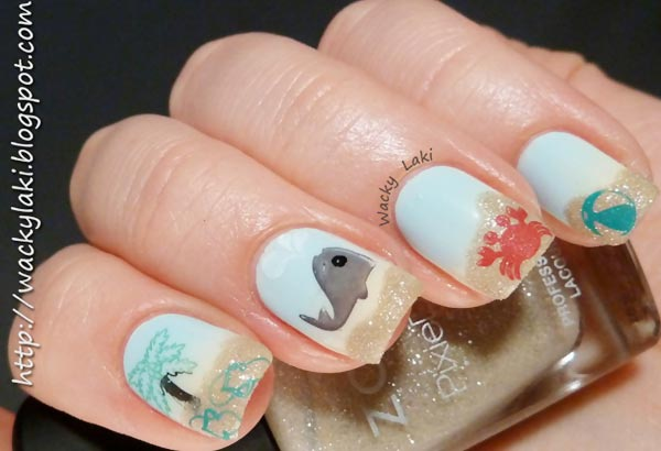 amazing beach holiday summer nails