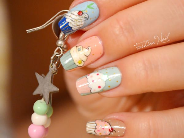 amazing cupcake party nails