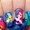 ariel little mermaid disney nails