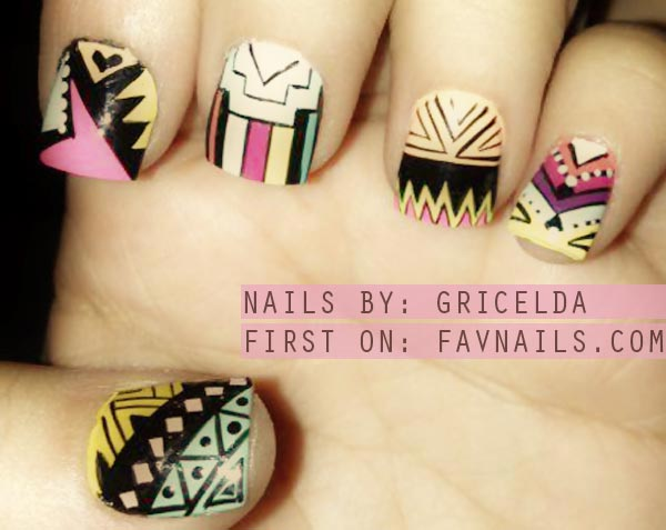 aztec mix nails