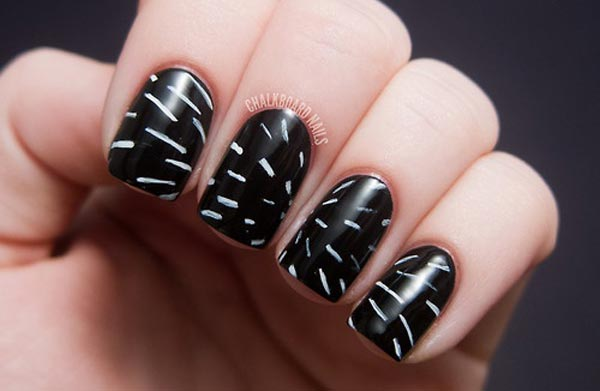 black and white supersonic nails