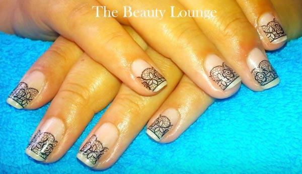 black lace elegant nails