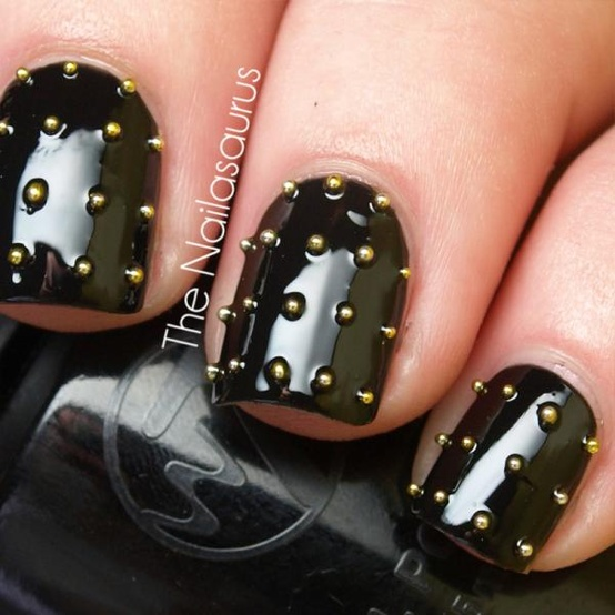 black rocker nails