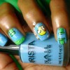 blue green flappy bird game nails