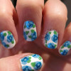 blue roses lovely spring nails