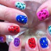 cheetah leopard rainbow summer nails