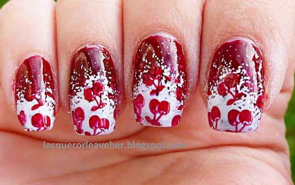 cherry white tips summer nails
