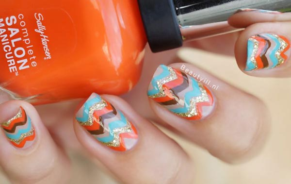 chevron missoni nails