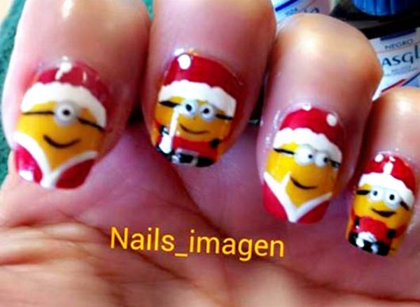 christmas minions despicable me nails