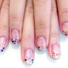 colorful glitter gradient party joyful nails