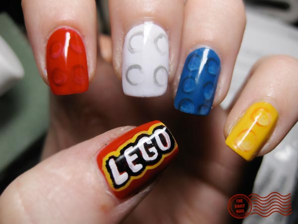 colorful lego nails