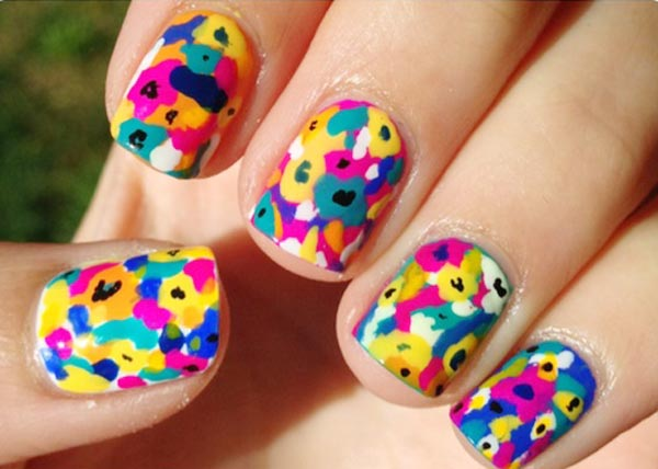 colorful spring summer nails