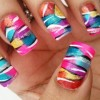 colorful zebra pop nails