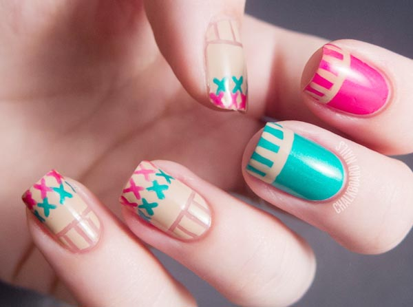 Craft Stitch Pastel Nails Favnails