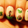 cream glitter green st patricks day decals nails