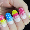 cute dotted pastels decals easter nails
