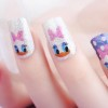 daisy dotted striped cute nails