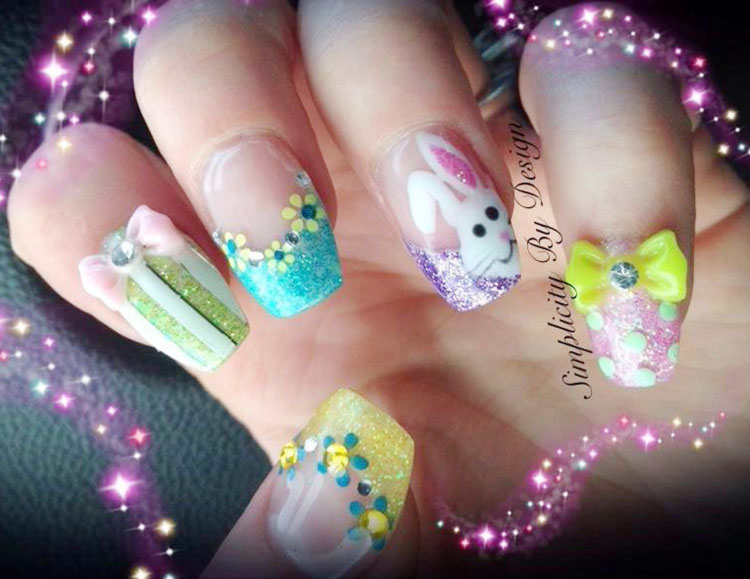 easter mix lovely nails