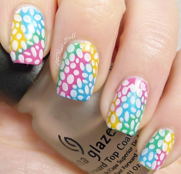 easter spring neon colorful nails