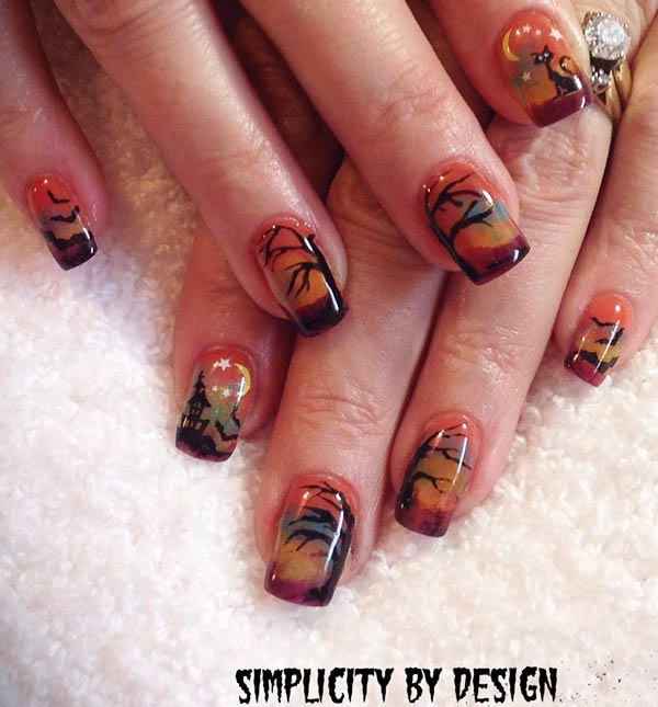 fall halloween fantastic nails