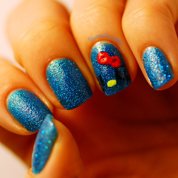 Hello Kitty Blue Pixie Dust Nails