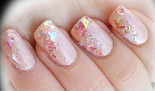 festive glitter party nails