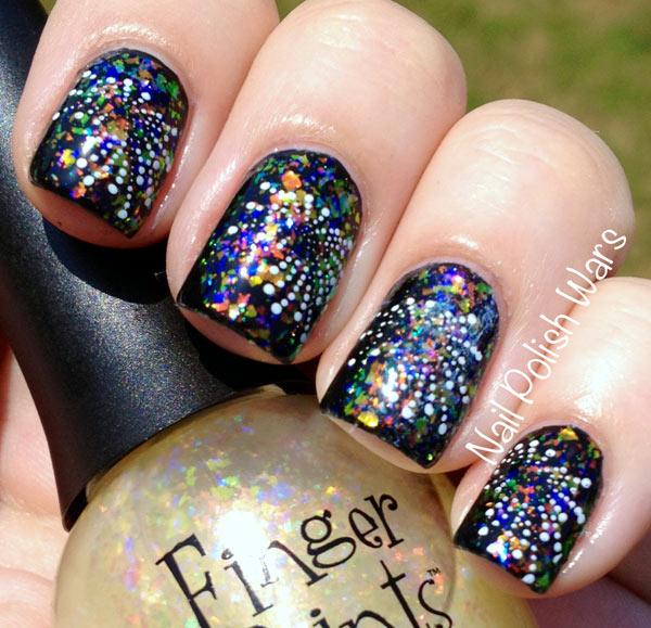 fireworks festive nails