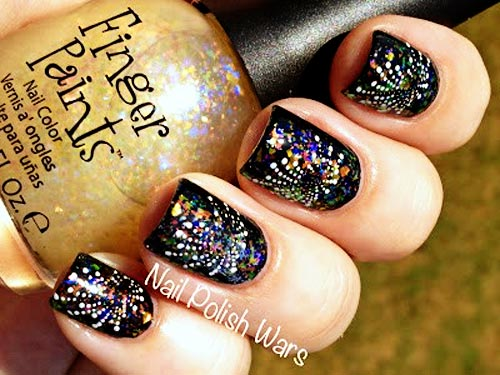 fireworks new year s eve nails