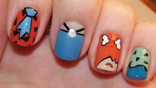 flinstones cartoons nails