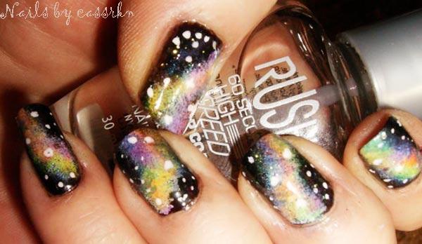 medium length galaxy nails