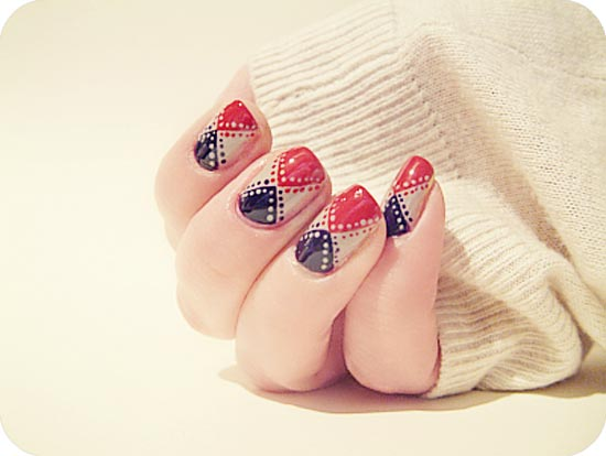 geometry and dots nails