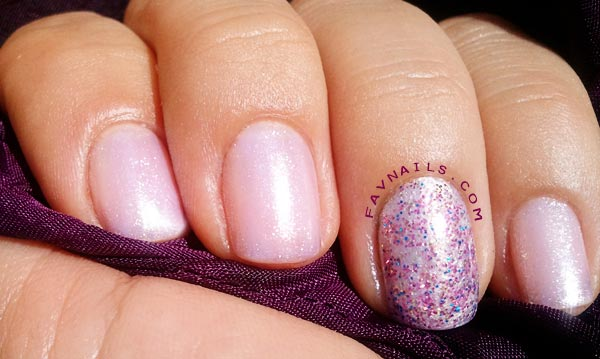 glitter accent delicate shimmer nails