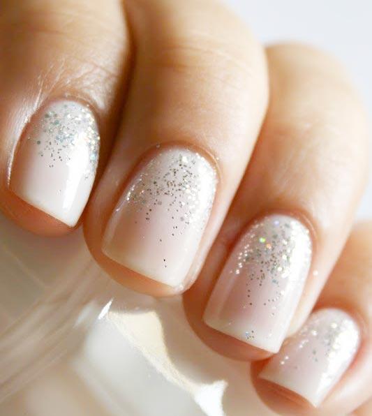 glitter wedding nails