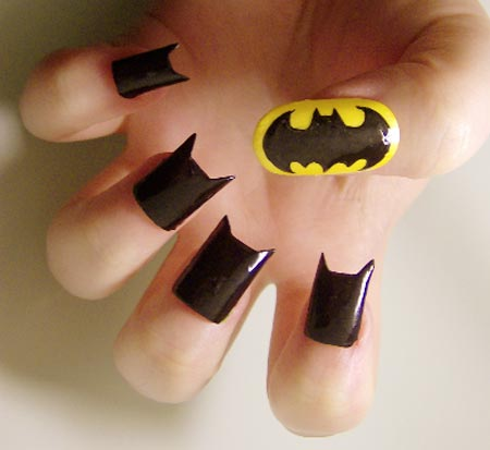 halloween batman nails