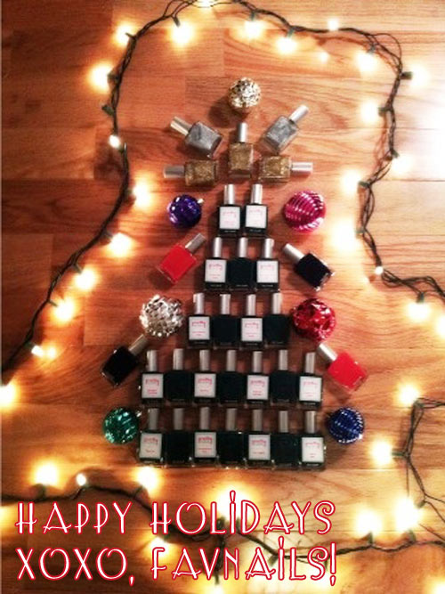 happy holidays favnails 2012