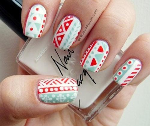 holiday aztec nails