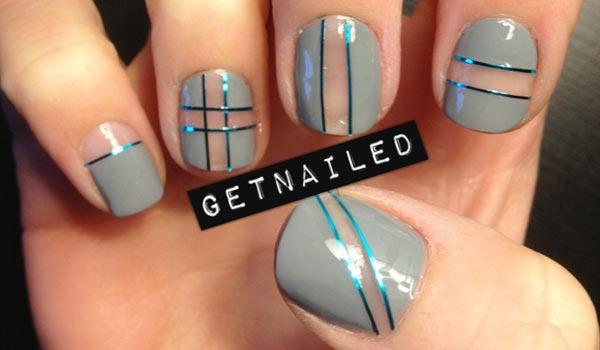impressive stripes cut out nails