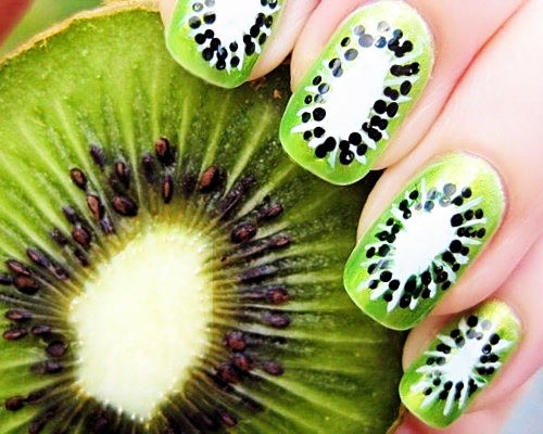 kiwi green nails