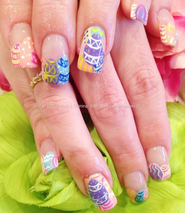 lovely colored easter nails