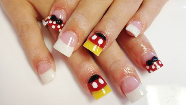 mickey minnie mouse disney french nails