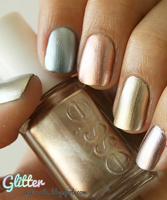 mirror metallic nails