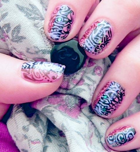 mix print nails