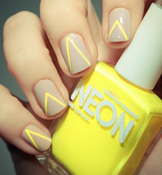 neon stripes nails