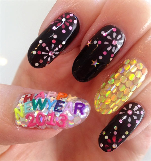 new year 2013 nails