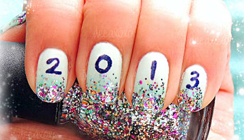 new year s glitter nails