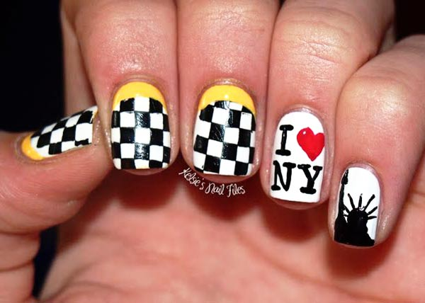 nyc yellow cab traveling nails