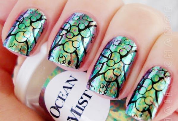 ocean summer nails