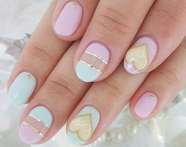 pastel easter art nails